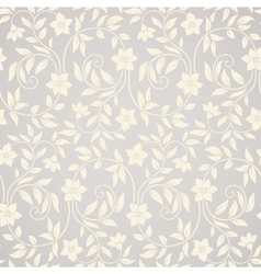 Seamless swirl floral background vector image