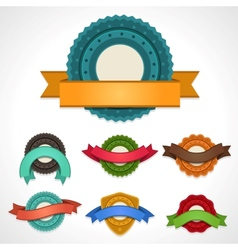 set labels badges and ribbons vector image
