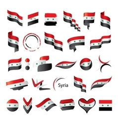 set of flags for Syria vector image