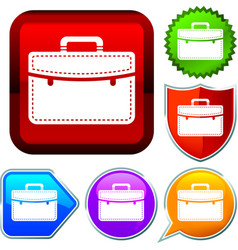 Set shiny icon series on buttons executive vector