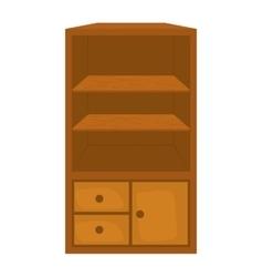 Shelf icon Furniture design graphic vector image