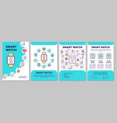 Smart watch technology brochure template vector