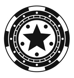 star casino chip icon simple style vector image