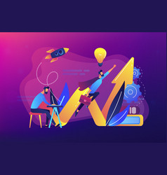 start up launch concept vector image
