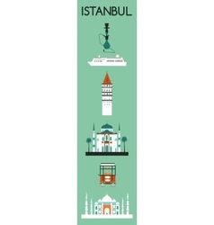 Symbols of Istanbul vector image