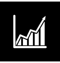 The growing graph icon Growth and up symbol Flat vector image