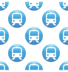 Train sign pattern vector image
