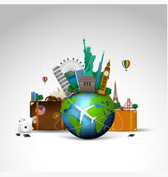 Travel world background vector