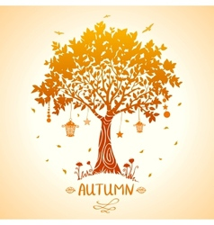 tree autumn vector image