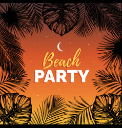 vintage beach party exotic vector image