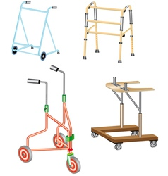 Walking frame vector image