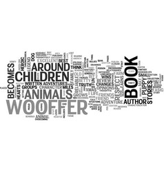 wooffer children s book review text word cloud vector image