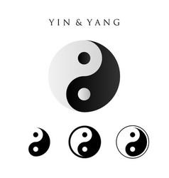 yin yang symbol set 4 type vector image