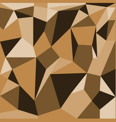 abstract polygons brown background vector image vector image
