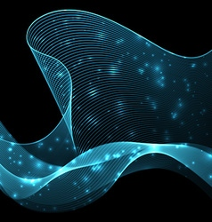 Abstract wave futuristic background vector image vector image