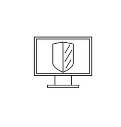 computer security icon vector image