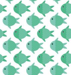 Fish cartoon patternFish pattern vector image vector image