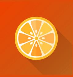 orange flat orange vector image