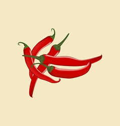 Red Chili Pepper Icon vector image