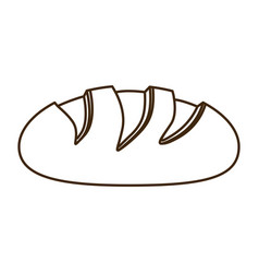 Silhouette homemade bread food icon vector
