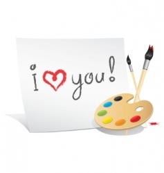 valentine card of the artist vector image