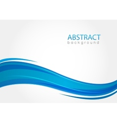 Abstract background with blue waves vector image