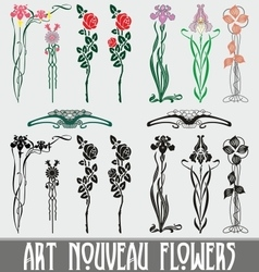 Art Nouveau Flowers vector image