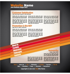 modern artistic web design template vector image