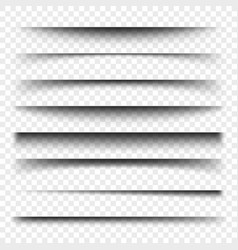 page divider with transparent shadows isolated vector image vector image