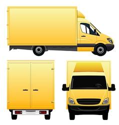 Yellow Cargo Van - Truck vector image vector image