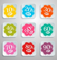 Discount Splash - Paper Labels Set vector image