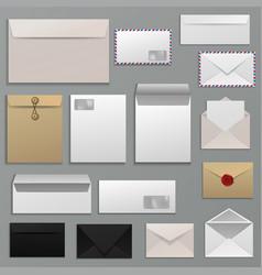 envelope blank of letter on paper mailing vector image