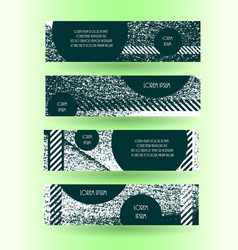 grunge style horizontal layout banner set vector image vector image