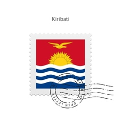 Kiribati Flag Postage Stamp vector image vector image