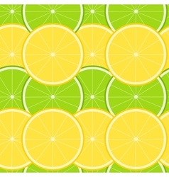 Lemon and Lime Seamless Pattern vector image