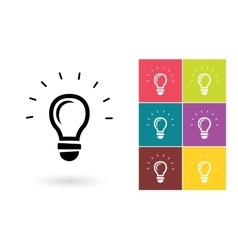 Light lamp icon or idea symbol vector image vector image
