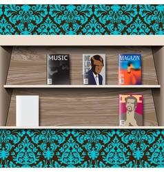 Stand online magazines vector