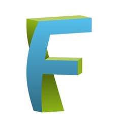 Twisted Letter F Logo Icon Design Template Element vector image