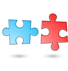 Two puzzle background vector image