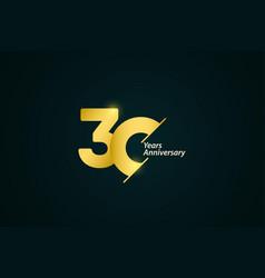 30 years anniversary celebration gold logo vector