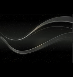 Abstract shiny color silver wave design element vector