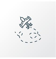 aeromodeling icon line symbol premium quality vector image