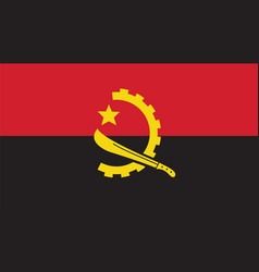 angola flag for independence day and infographic vector image