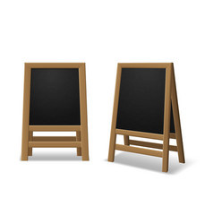 announcement menu board black wooden realistic vector image