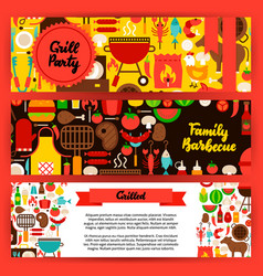 barbecue banners set vector image