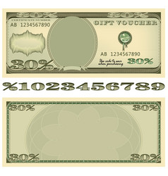 based on the dollar banknote gift voucher vector image