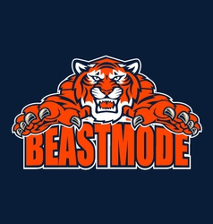 beastmode tiger vector image