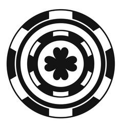 black casino chip icon simple style vector image