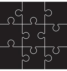 Black jigsaw pieces vector