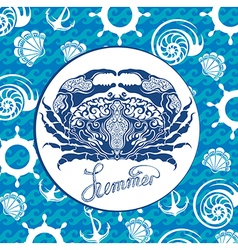 Blue crab vector image
